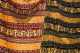Fiji, Yasawa Islands Colorful fabrics with prints