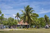 Fiji, Southern Lau Group, Island of Fulanga. Village of Fulanga. Typical village home.