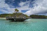 Fiji, Island of Fulanga. Lagoon inside volcanic caldera.