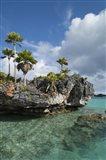 Fiji, Southern Lau Group, Island of Fulanga. Scenic lagoon located inside volcanic caldera.