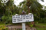 Sign, Kioa Island,  Fiji
