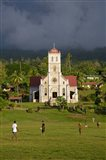 Close up of Taveuni Waiyavo Catholic Church, Fiji