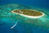 Treasure Island Resort and boat, Mamanuca Islands, Fiji