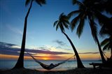 Hammock and sunset, Plantation Island Resort, Malolo Lailai Island, Mamanuca Islands, Fiji