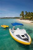 Powerboat and banana boat, Plantation Island Resort, Malolo Lailai Island, Mamanuca Islands, Fiji