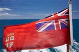 Fiji Merchant Ensign flag, ferry, Viti Levu, Fiji