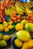 Pawpaw/Papaya, tomatoes and bananas, Sigatoka Produce Market, Sigatoka, Coral Coast, Viti Levu, Fiji