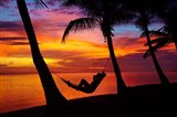 Woman in hammock, Coral Coast, Viti Levu, Fiji