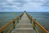 Long wooden pier, Coral Coast, Fiji, South Pacific