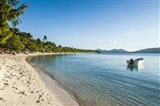 White sand beach, Oarsman Bay, Yasawa, Fiji, South Pacific