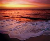Fiji Islands, Tavarua, Colorful sunset