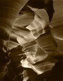 Red Sandstone Walls, Lower Antelope Canyon (Sepia)