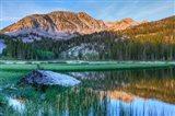 California, Sierra Nevada Mountains Calm Reflections In Grass Lake