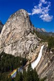 Nevada Fall, Half Dome And Liberty Cap