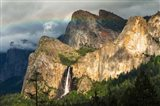 Last Light On Bridalveil Fall, California