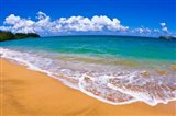 Blue Waters On Hanalei Bay, Island Of Kauai, Hawaii