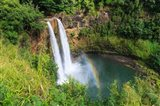 Rainbow In Wailua Falls, Kauai, Hawaii