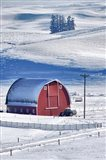 Snow-Covered Barn, Idaho