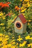 Sunflower Birdhouse In Garden