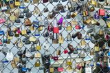 Love Locks On A Fence, Portland, Maine