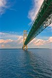 Sailing under the Mackinac Bridge