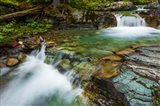 Cascade On Baring Creek, Glacier National Park, Montana