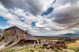 Collapsed Building And Rusted Vintage Car, Nevada