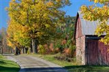 Rural barn, farm in autumn, New Hampshire