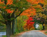 New Hampshire, Andover Autumn color, England home