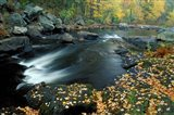 Autumn Leaves at Packers Falls on the Lamprey River, New Hampshire