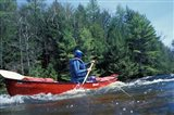 Paddling on the Suncook River, Tributary to the Merrimack River, New Hampshire