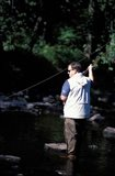 Fly Fishing on the Lamprey River, New Hampshire