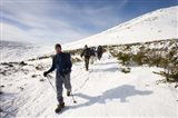 Winter Hiking near Lion Head, Mount Washington, White Mountain National Forest, New Hampshire