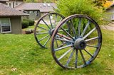 Wagon wheels at Oliver Lodge on Lake Winnipesauke, Meredith, New Hampshire