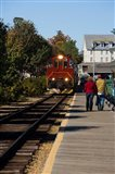 Scenic railroad at Weirs Beach in Laconia, New Hampshire
