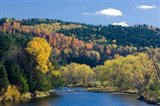Fall along the Connecticut River in Colebrook, New Hampshire