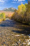 The Percy Peaks rise above Nash Stream, Stark, New Hampshire