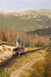 The Cog Railroad on Mt Washington, New Hampshire