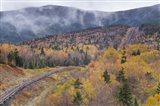 New Hampshire, White Mountains, Bretton Woods, Mount Washington Cog Railway trestle