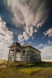 Abandoned Township Hall On The North Dakota Prairie