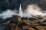 Ocean Spray On Rocky Coastline, Oregon