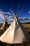 Sioux Teepee at Sunset, Prairie near Mount Rushmore, South Dakota