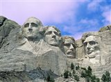 View of Mount Rushmore National Monument Presidential Faces, South Dakota