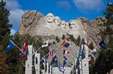 Mount Rushmore National Memorial, Avenue of Flags, South Dakota