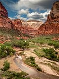 View Along The Virgin River Or Zion National Park