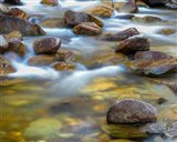 Water Flowing Over Rocks In The Little Cottonwood Creek