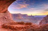 Evening Light On False Kiva, Island In The Sky, Utah