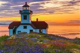 Patos Lighthouse At Sunset, Washington State