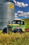 Silo With Old Field Truck