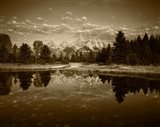 Teton Range and Snake River, Grand Teton National Park, Wyoming (sepia)